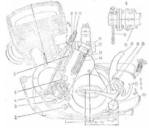 Двигатель (вид слева)